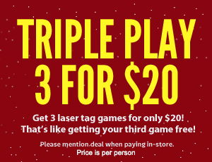 triple play - 3 games for $25
